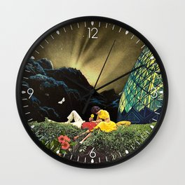 Postcard from New Iceland Wall Clock