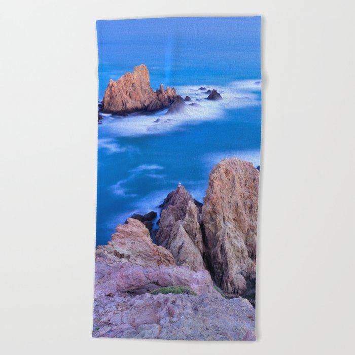 """Sirenas azules. Blue mermaids"" Beach Towel"
