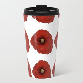 I Adore Poppies Travel Mug