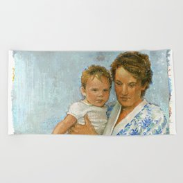 mother and child 2 Beach Towel