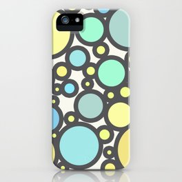 Yellow Blue Green Dots iPhone Case