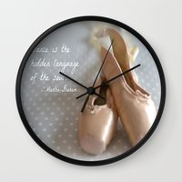 ballet Wall Clocks featuring Ballet by DuniStudioDesign