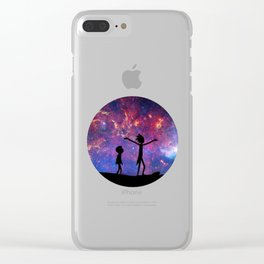 rick and morti galaxy Clear iPhone Case