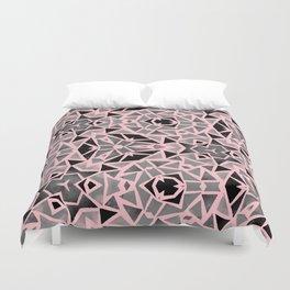 Pink Stones Mosaic Duvet Cover