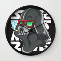 darth Wall Clocks featuring Darth by Octofly Art