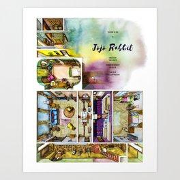 JOJO RABBIT's house in watercolor Art Print