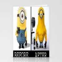 minion Stationery Cards featuring Minion by Duitk