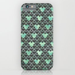 Mouse Ears Watercolor - Jasmine Mint iPhone Case