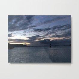 Darkening Sky Over the Ocean  Metal Print