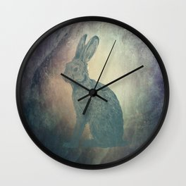 Hare in the Moon Wall Clock