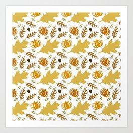 Fall Pattern Art Print