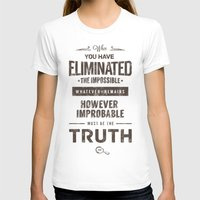 quotes T-shirts featuring Detective Quotes by CHOCOMINT GEEK