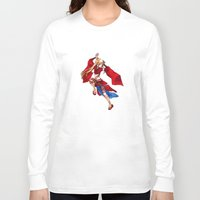 manga Long Sleeve T-shirts featuring Manga Hero by SpaceMonolith