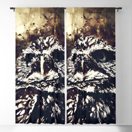 owl portrait 5 wsfn Blackout Curtain