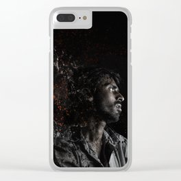 Man Portrait Coming Together Clear iPhone Case