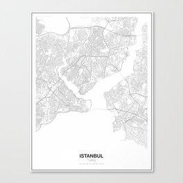 Istanbul, Turkey Minimalist Map Canvas Print