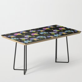 Decorative Floral Pattern Coffee Table