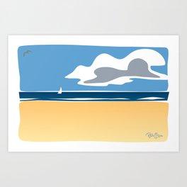 Beach Scape 1 Art Print