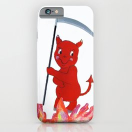 Baby Devil in the Flames iPhone Case
