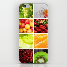 Colorful & Vibrant Fruit Collage iPhone Skin