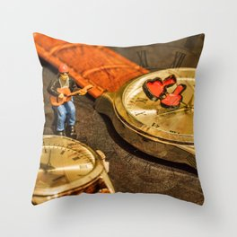 Playing For Time Throw Pillow