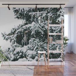 Snowy Great Blue Heron Wall Mural