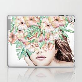 She Wore Flowers in Her Hair Island Dreams Laptop & iPad Skin