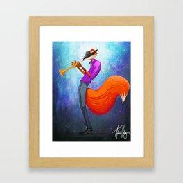 Jazz Fox Painting Framed Art Print