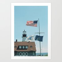maine Art Prints featuring Maine by Jessica Krzywicki