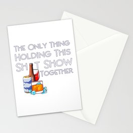 Only Alcohol Keeping It Together Funny Drinking Stationery Cards