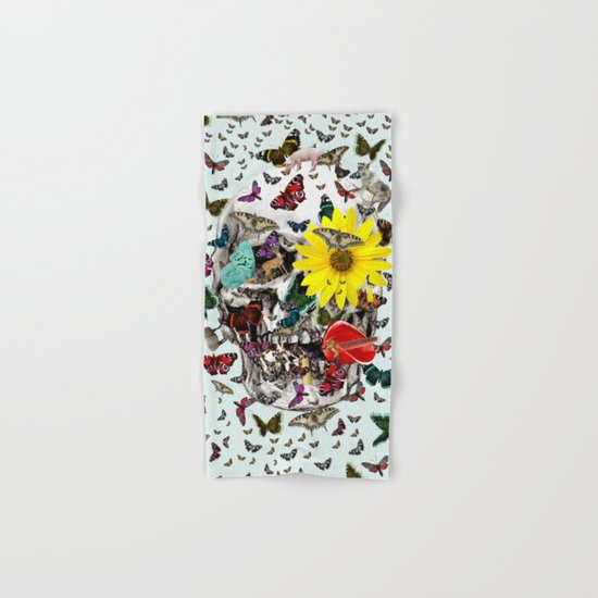 Skull Flowers Animals on MINT | Butterflies Hand & Bath Towel