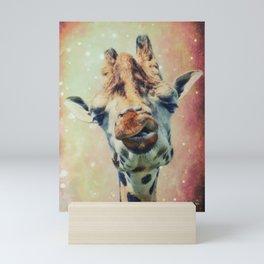 The giraffe Mini Art Print