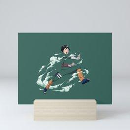 Rock Lee Jutsu - Green Mini Art Print