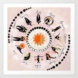 Zodiac Wheel Art Print
