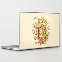 fight Laptop & iPad Skins featuring Food Fight by Alex Solis