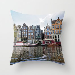 Dancing Houses of Amstedam Throw Pillow