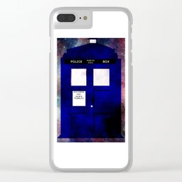 A stain in time and space Clear iPhone Case
