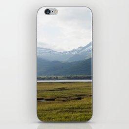 Misty Mountain Sunset Photography Print iPhone Skin