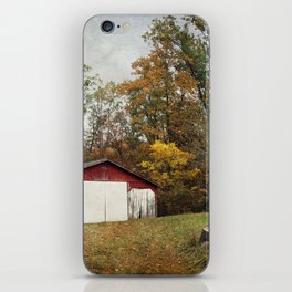 Cromwell Barn in Autumn iPhone Skin