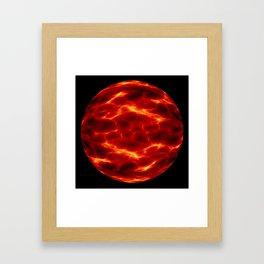 space alien planet Framed Art Print