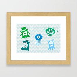 MONSTERS! Framed Art Print