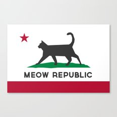 Meow Republic - Flag of Catifornia Canvas Print