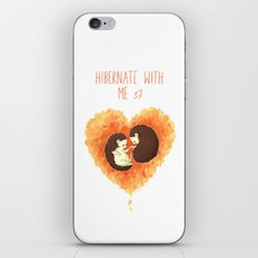 Hibernate with Me iPhone & iPod Skin