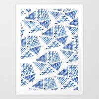 geometric splatter pattern Art Print