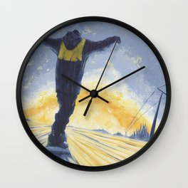 Salute The Sun Wall Clock