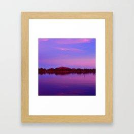 Pinks of Lake Kununurra Framed Art Print