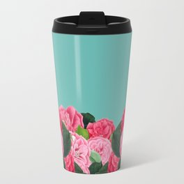 Floral & Turquoise Travel Mug