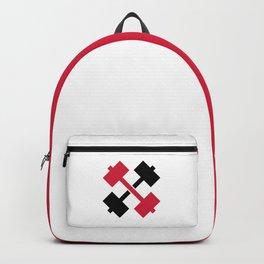 Crossed Barbells Backpack