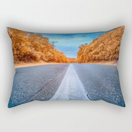 Infrared Road Rectangular Pillow