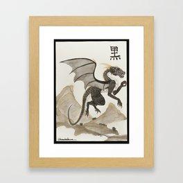 Kuro the black dragon Framed Art Print